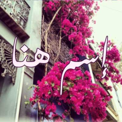 اكتب اسمك في زهور وردية لوضعها في صورة البروفايل